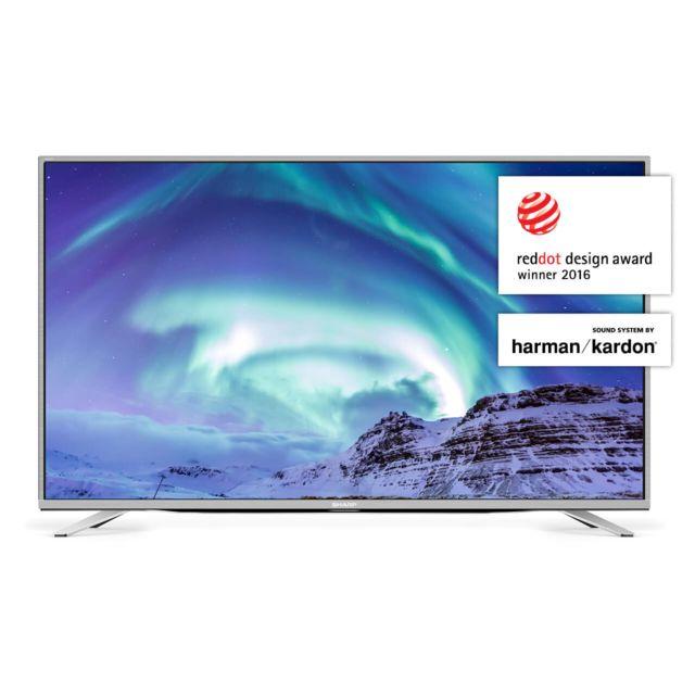 """Sharp TV LED 49"""" 124 cm - LC-49CUF8472ES Résolution 4K pour des contenus fidèles à la réalité - Fluidité élevée (600AM) pour des images en mouvements nettes et précises - Un son précis avec des HP signés Harman Kardon"""