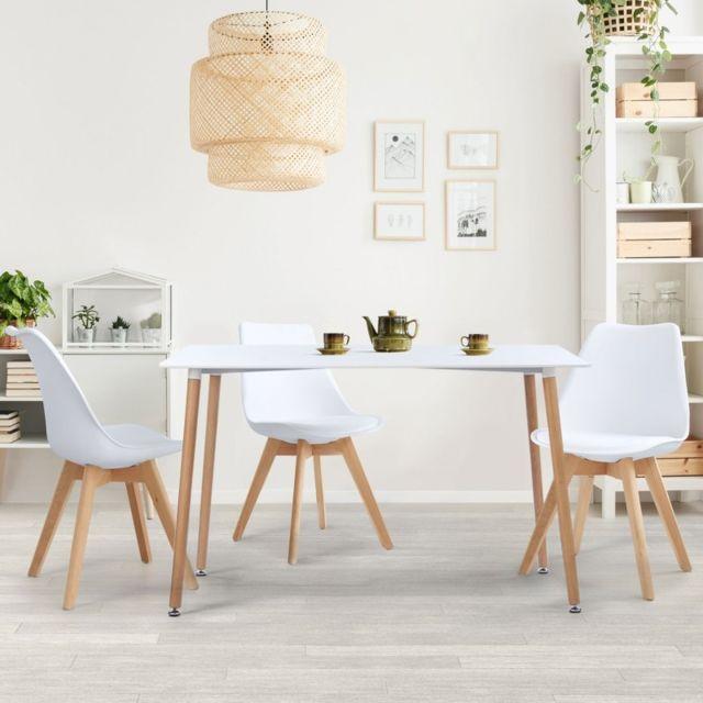 Idmarket - Table à manger scandinave Sara 120 Cm blanche - pas cher ...