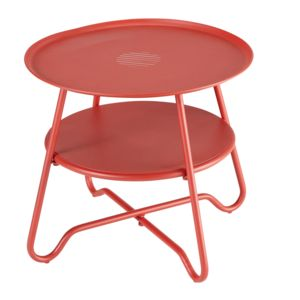 hyba optimistic table basse acier151 rouge ltcf3942 50cm x 45cm x 50cm pas cher achat. Black Bedroom Furniture Sets. Home Design Ideas