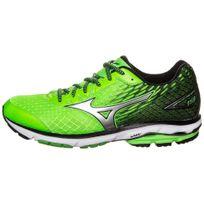 Mizuno - Wave Rider 19 Verte Et Noire Chaussures de running homme