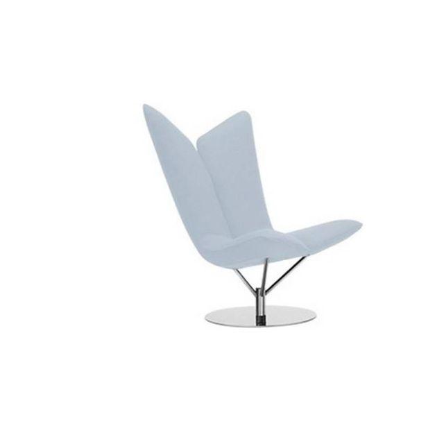 Inside 75 Fauteuil design Angel en tissu bleu ciel Softline