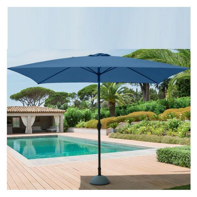 hesperide parasol rectangulaire hesp ride fidji 2x3m bleu orage pas cher achat vente. Black Bedroom Furniture Sets. Home Design Ideas