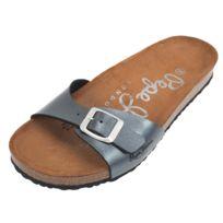 Pepe Jeans - Claquettes mules Oban chrome lady Gris 55257