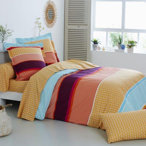 origin housse de couette santorin bambou multicolore 240 x 220 cm pas cher achat vente. Black Bedroom Furniture Sets. Home Design Ideas