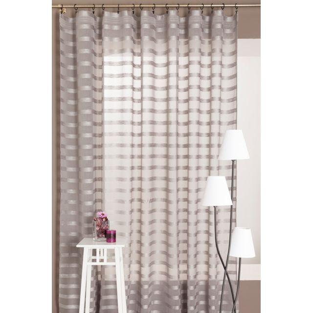 rideaudiscount magnifique rideau voilage grande largeur. Black Bedroom Furniture Sets. Home Design Ideas