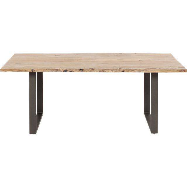 Karedesign Table Harmony acacia acier 180x90cm Kare Design