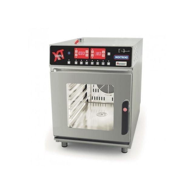 Materiel Chr Pro Four électrique professionnel - commandes électroniques - Gn 1/1 - 5,2 kW - Inoxtrend