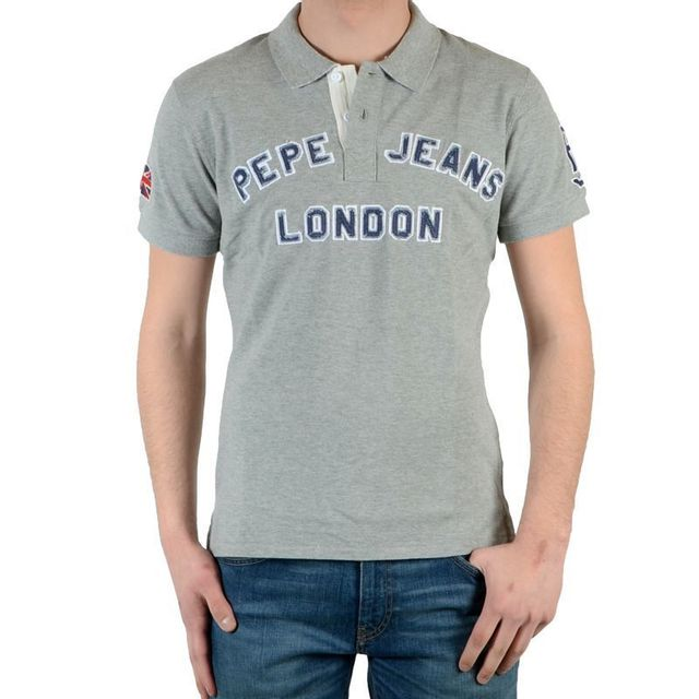 dad8b821ad0 Pepe Jeans - Polo New Polo Gris - pas cher Achat   Vente Polo homme -  RueDuCommerce