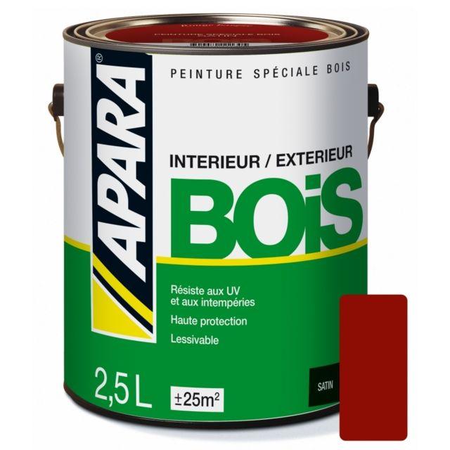 Apara - Peinture spéciale Bois Satin-2.5 litres-Rouge basque