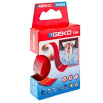 Geko - Ruban colle double face 1.5m x19mm 140kg