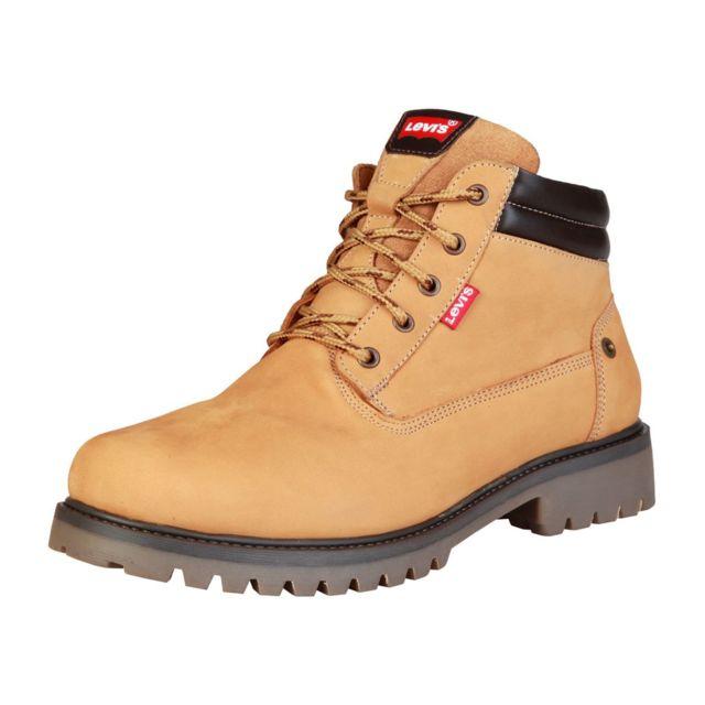 plus de photos 95139 cb6db Levi'S - Boots / Bottines en cuir - Camel - pas cher Achat ...