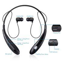 Alpexe - Oreillettes Bluetooth Écouteurs Bluetooth Stéréo Casque Bluetooth Sport Sans fil Intra-Auriculaires pour Apple, iPhone Android et Windows Smartphone / Tablettes et Autres Appareils Bluetooth Noir