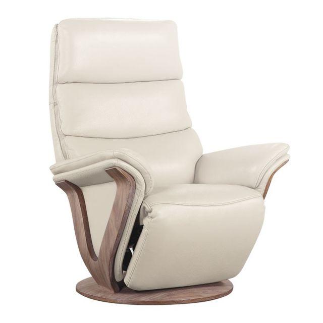 tousmesmeubles fauteuil de relaxation lectrique cuir mastic fruity blanc cass pas cher. Black Bedroom Furniture Sets. Home Design Ideas