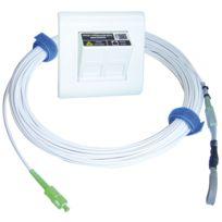 Michaud - Kit Prise Box Ftth + Jarretiere 20m Q182