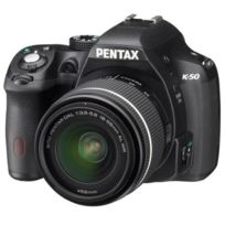 Pentax - K50 Noir + Dal 18-55WR Appareil Photo Reflex