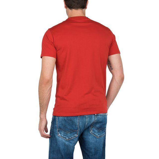 REPLAY Tee-shirt rouge avec logo T-shirt col rond imprimé Replay en coton rouge