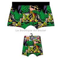 Marvel Comics - Marvel Boxer Homme Coton Hulk Bd Multicolore