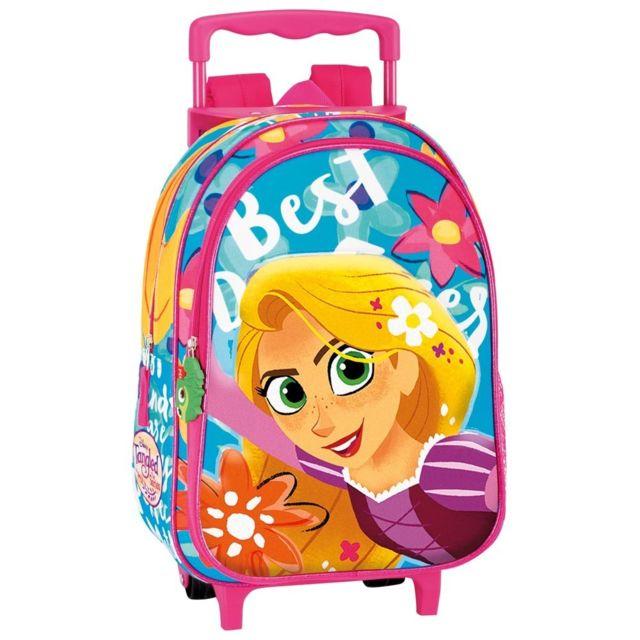 Disney Princesses - Sac à dos à roulettes maternelle Princesse Raiponce 37 Cm  trolley - Cartable b6a62bd8293b