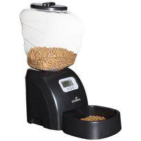 Eyenimal - Distributeur automatique de croquettes 45x20x47 cm - Noir - Pour chat et petit chien