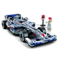 sluban europe jeu de construction serie f1 voiture de course formule 1 grise