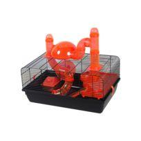 Les Animaux De La Fee - Cage Jerry Noir Et Orange Pour Hamster/SOURIS