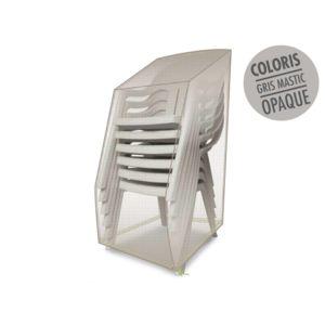 jardideco housse de protection pour piles de chaises 66 x 66 x 110 cm pas cher achat vente. Black Bedroom Furniture Sets. Home Design Ideas
