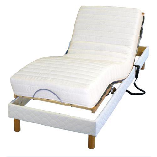 lovea ensemble relaxation matelas 100 latex 3 zones sommier avec r glage fermet au niveau. Black Bedroom Furniture Sets. Home Design Ideas
