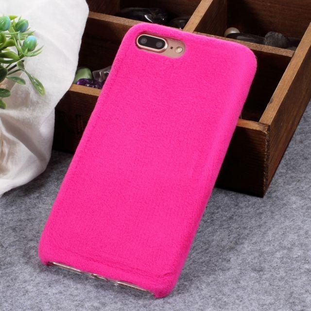 coque iphone 8 fourrure rose
