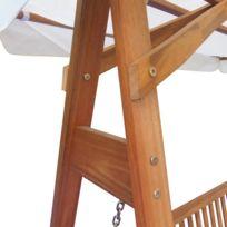 Icaverne - Balancelles de jardin collection Chaise balançoire pour jardin +  baldaquin eucalyptus acacia