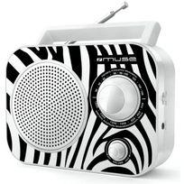 Muse - M-060 Zw Radio portable Am/FM - Motif Zebre