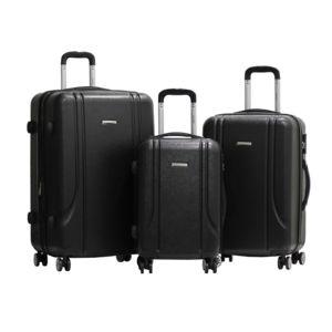 alistair set de 3 valises smart 55 65 75cm abs ultra l g re 4 roues double. Black Bedroom Furniture Sets. Home Design Ideas