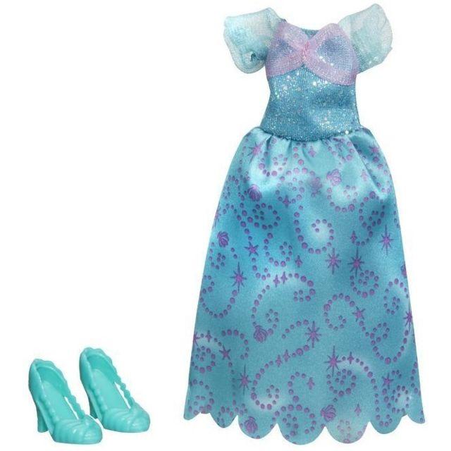 Otto Disney Princesse Poupee Et Mini Poupee Tenue Ariel La Petite Sirene Robe Verte De Bal Avec Chaussure Habit Pas Cher Achat Vente Poupees Rueducommerce
