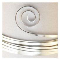 Vaessen creative - Aluminium, Plat, Fils, Parent, Argent, 10 X 1 Mm 2.5 M