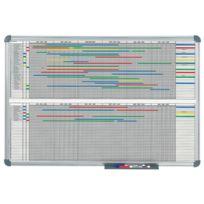 Hebel - Tableau de planification annuelle 12 mois - dimensions 120 x 90 cm - gris