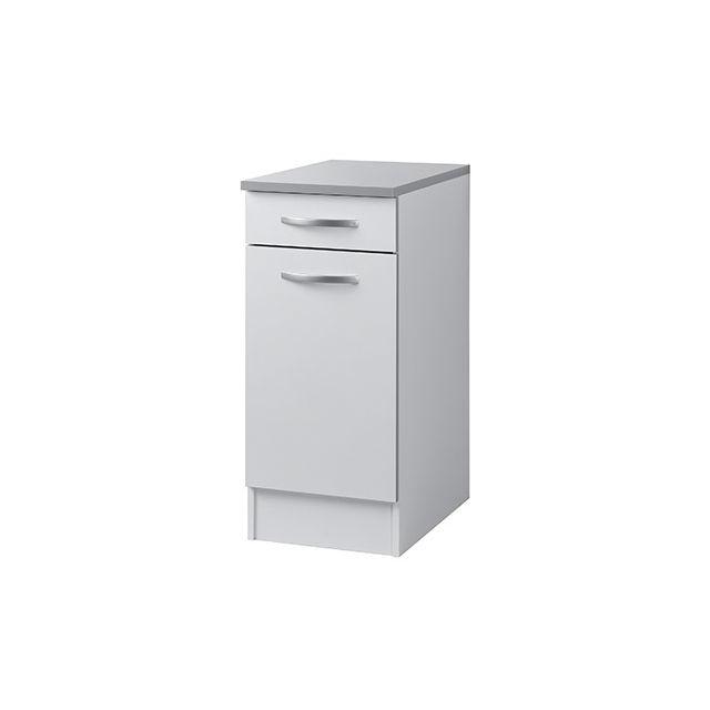 Meuble bas L40xH86xP60cm - blanc