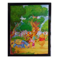 Marque Generique - Tableau Winnie l'Ourson, Porcinet, Tigrou et bourriquet 20 x 25 cm Disney cadre hundred