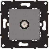 Arnould - Espace évolution Prise Tv simple mâle avec enjoliveur magnésium a assembler