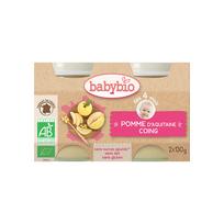Babybio - Pots Pomme Coing dés 4 mois