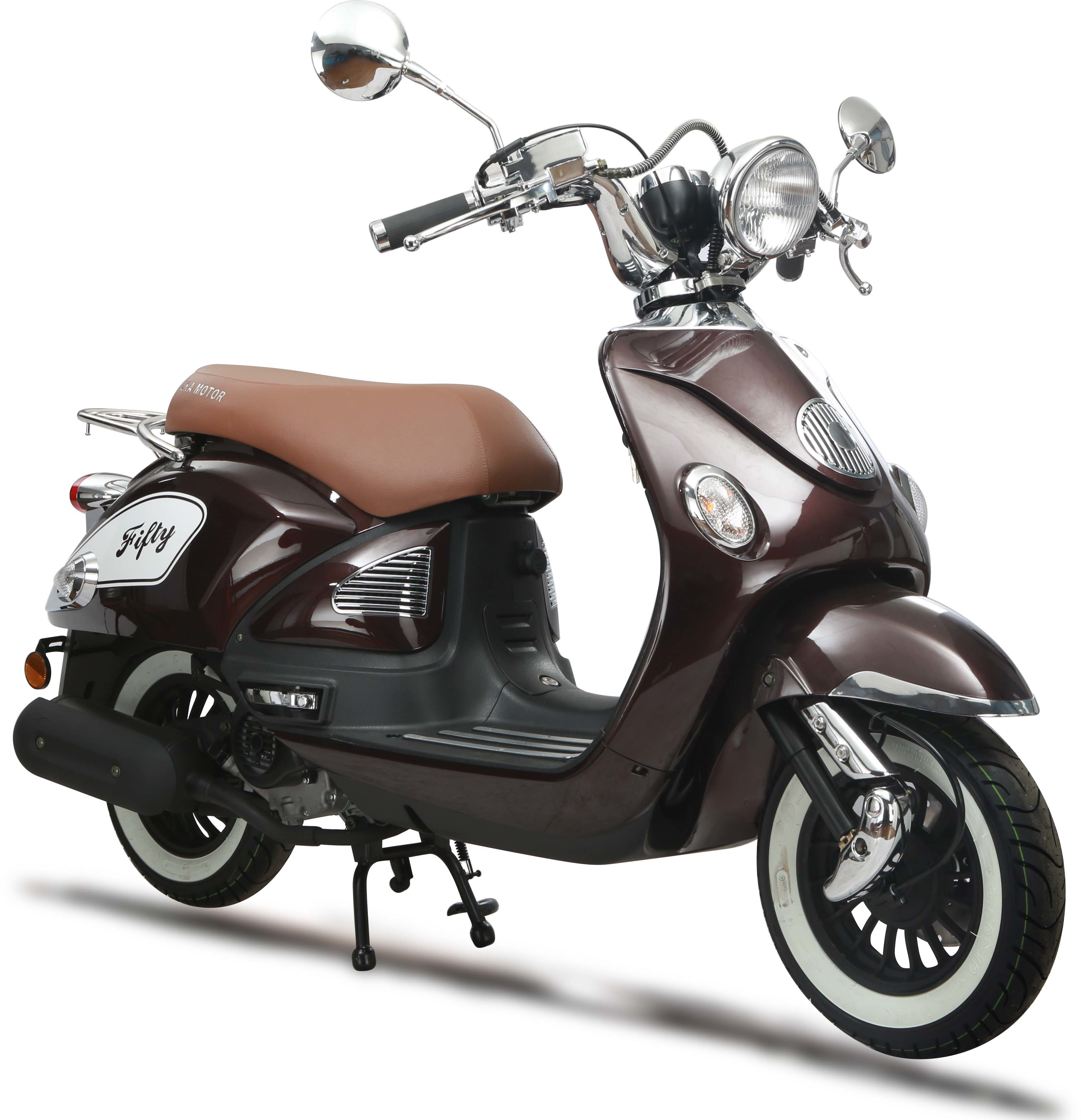 eurocka scooter fifty 50cc 4t marron immat achat vente scooters 50 pas cher rueducommerce. Black Bedroom Furniture Sets. Home Design Ideas