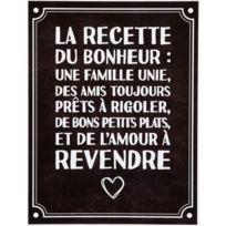 Promobo - Planche Stickers Citation Recette Amour A Revendre Fond Noir