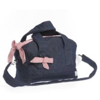 Therese Accessoires - Jeans Karo Sac À Langer Rouge 30 X 26 Cm