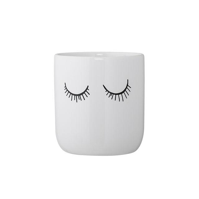 Bloomingville - Pot blanc céramique Audrey