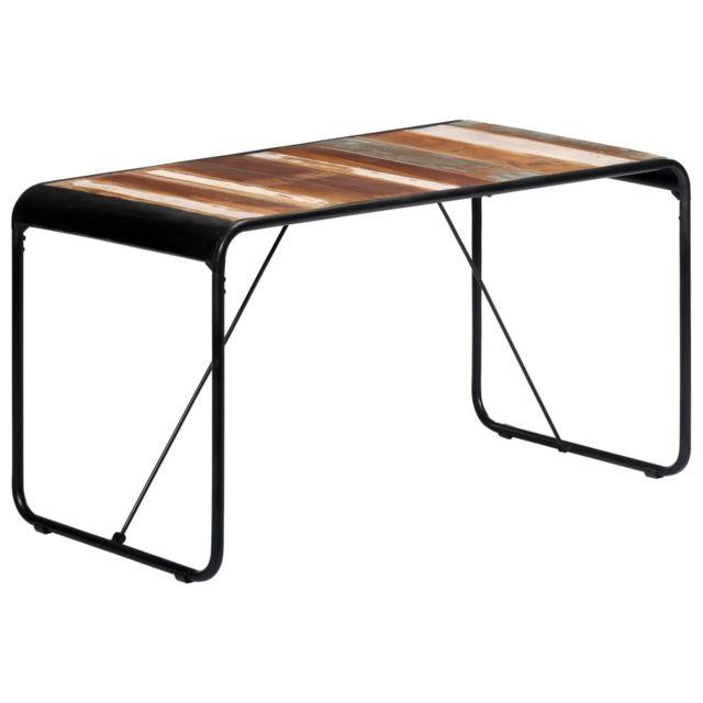 Superbe Tables famille Jérusalem Table de salle à manger 140x70x76cm Bois de récupération massif