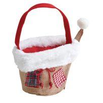 AUBRY GASPARD - Panier de Noël en jute