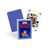 Modiano - Cartes Poker Index 100% plastique bleu