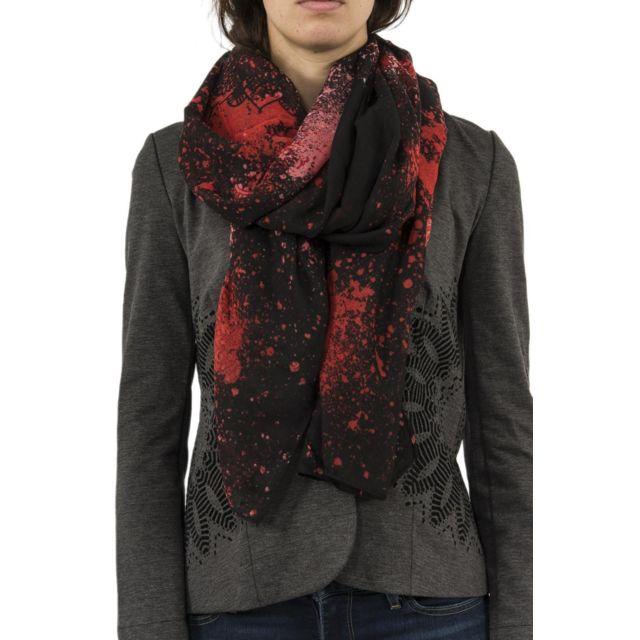 Desigual - Foulards 18waww16 spray dots rectangle rouge - pas cher Achat   Vente  Echarpes, foulards - RueDuCommerce 9fe8ce47a76