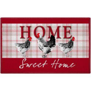 Promobo tapis d co zen cuisine imprim home sweet home for Tapis de cuisine motif poule