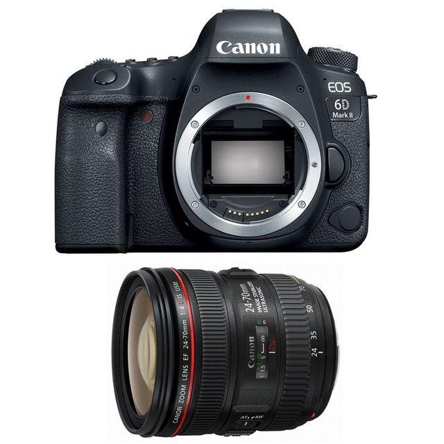 Canon Eos 6D Mark Ii + Ef 24-70mm f/4 L Is Usm Garanti 3 ans