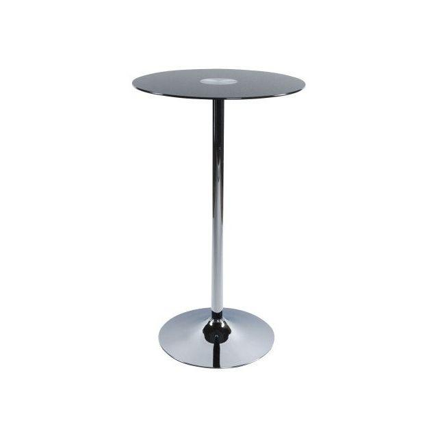 7671470e1aeb3d Decodesign - Table Haute Bar  BENO  Mange Debout Verre Noir 65cm x ...