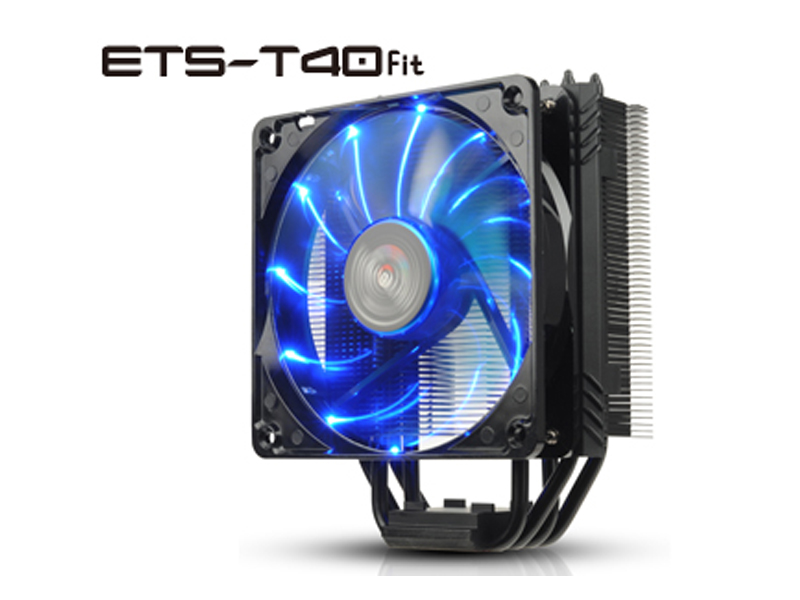 Ventirad pour processeur ETS-T40F-BK - Intel® LGA 775/1150/1151/1155/1156/1366/2011/2011-3 AMD® AM2/AM2+/AM3/AM3+/FM1/FM2/FM2